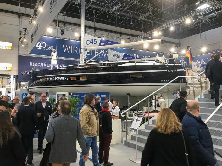 LANSERING: Bavaria C45 var en av nyhetene Bavaria-verftet lanserte i Düsseldorf i januar.