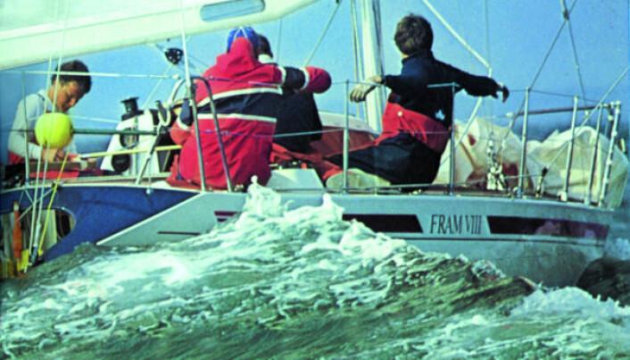 PÅ HANKØ: «Fram VIII» tok 4. plass under VM på Hankø i Halvtonn-klassen i 1983.