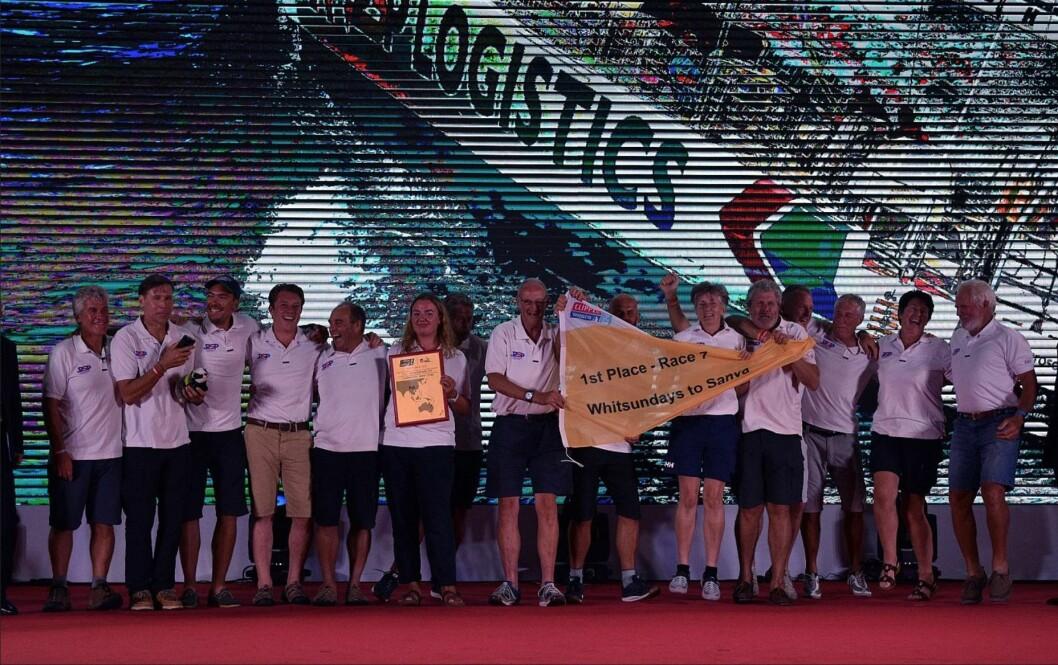 SEIER: «PSP Logistic» vant endelig sin første etappe, fra Australia til Kina.