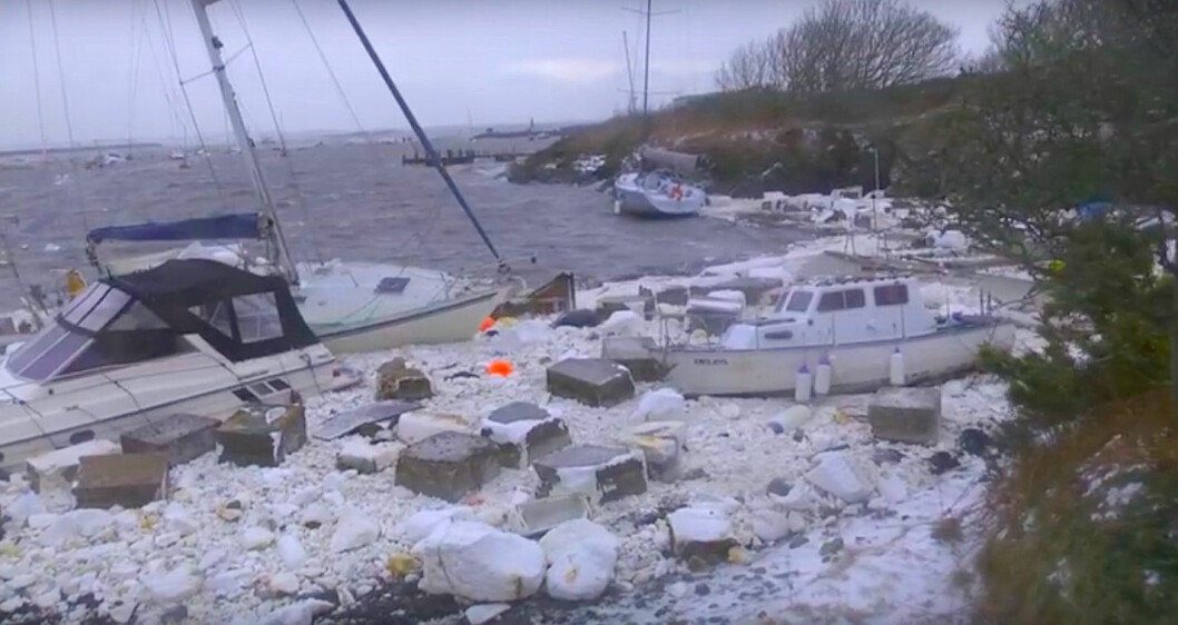 UVÆR: «Emma» førte til store skader i Wales 2. mars 2018.