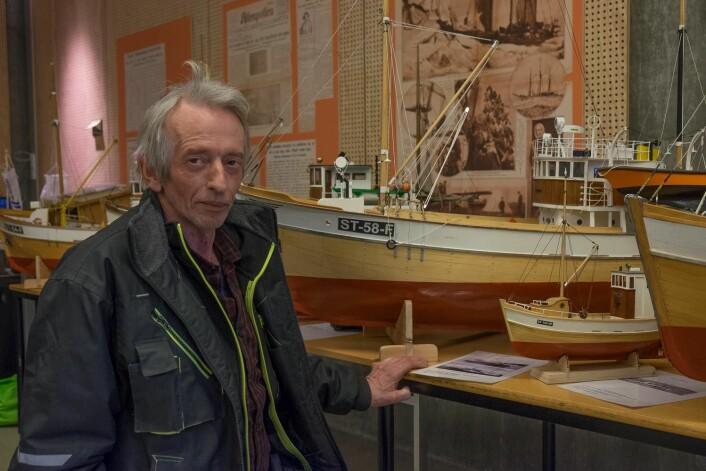 FISKEBÅTER: Arnfinn M.F. Kynnø viste frem en imponerende samling av fiskebåter.