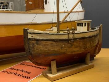 FRA FAREN: Denne modellen som fareen bygde til Arnfinn M.F. Kynnø for 50 år siden var med på å vekke modellbåtinteressen hos ham.