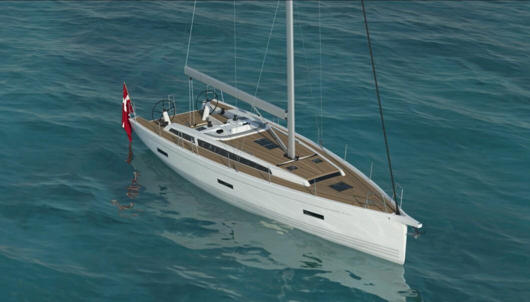 NY: 46 arver formspråket fra X49. Båten er på vannet i løpet av sommeren.