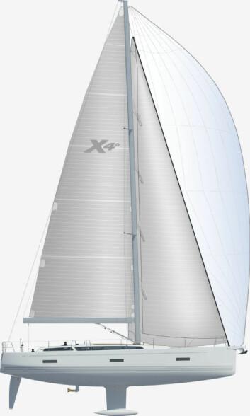 RASK: 46-foteren kan leveres med selvslående fokk. Seilarealet er litt mindre enn på X-46, som har en stor og tung genua.