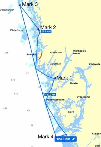 123NM: Banen går både innaskjærs og på åpne strekk.