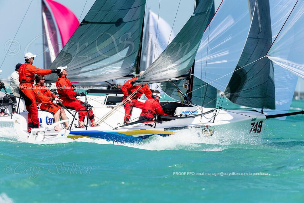 Rett Rundt Hjørnet tok en fin 4. plass i Melges 24 klassen i Miami Sailing Week.