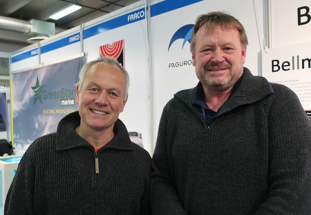 MESSA: Vi traff elbåtentusiast Even Øiestad sammen med Håkon-Ingvaldsen fra Farco på Sjøen for Alle.