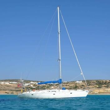 GRESK: Paret seiler en Atlantic 49 byget i 1995.