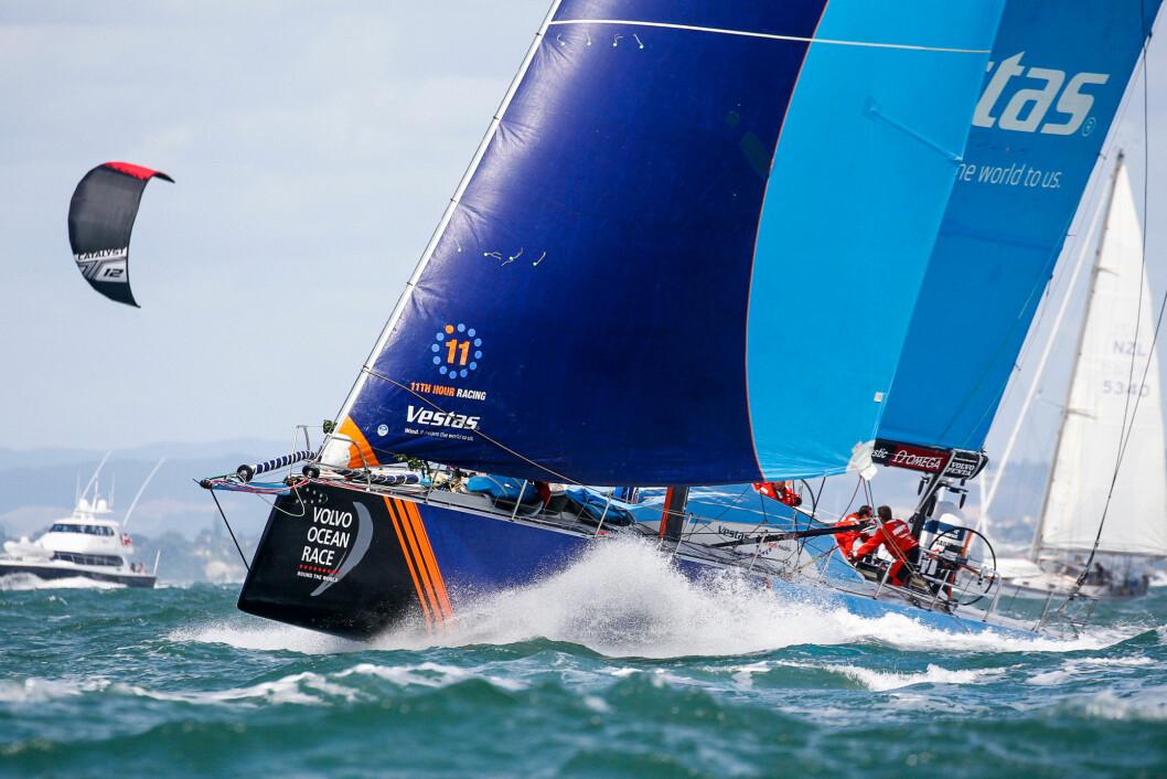 TILBAKE: «Vestas» leder 7. etappe til Brasil etter å ha stått over to etapper.