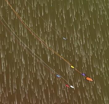 TETT: Det er bare 15 nm mellom båtene. Farten er høy, alle båtene seiler over 22 knop.