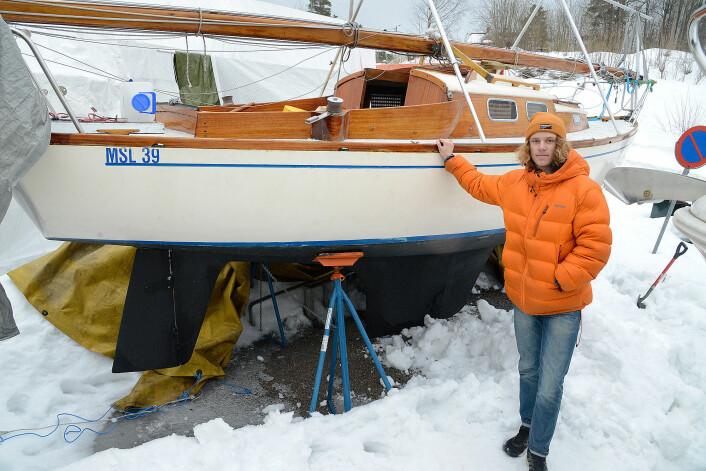 REDER: Norlen var bare 14 år da han kjøpte Hallberg Misil, i sommer vil han seile til Nederland.