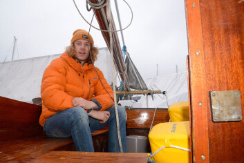 UNG: Fritjof Norlen kjøpte seilbåt som 14-åring.