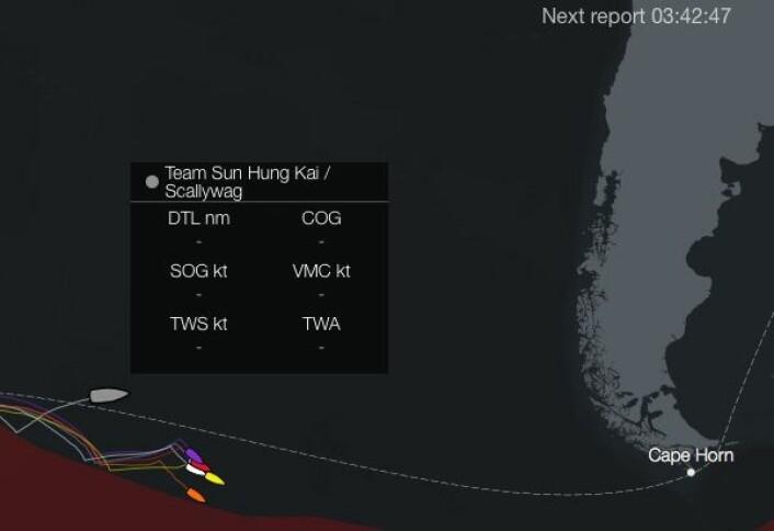 STILLEHAVET: Fisher falt over bord 1600 nm fra Kapp Horn.
