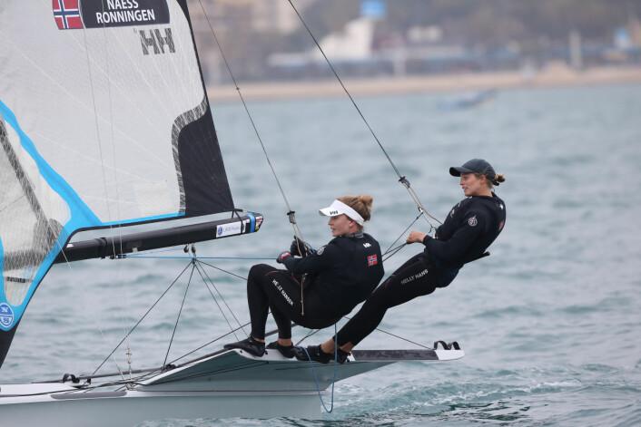 Helene Næss og Marie Rønningen på vei mot topplassering