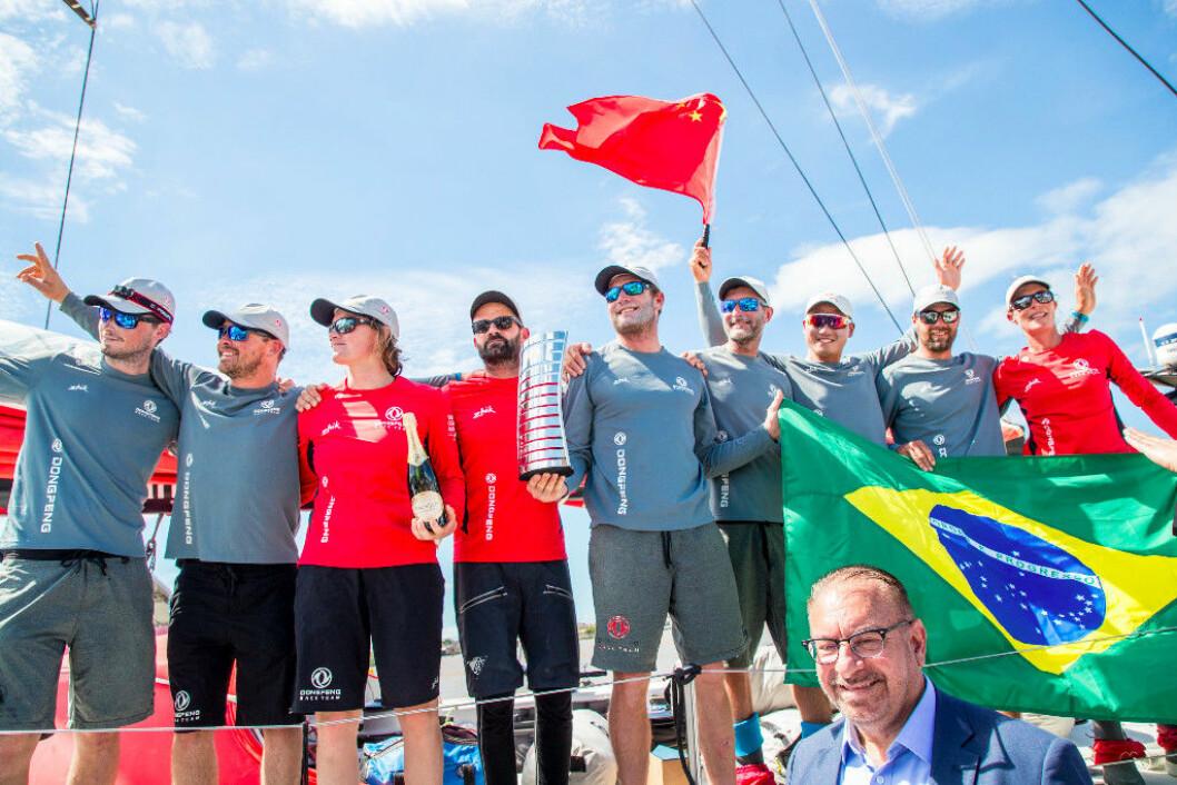 Mannskapet på «Dongfeng Racing» kan lede Volvo Ocean Race etter 7. etappe.