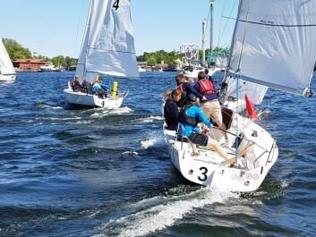 EKSOTISK: Gamla Stans Yacht Sällskaphar lokket til seg seilere fra kjente foreninger i Europa, og fra New York Yacht Club.