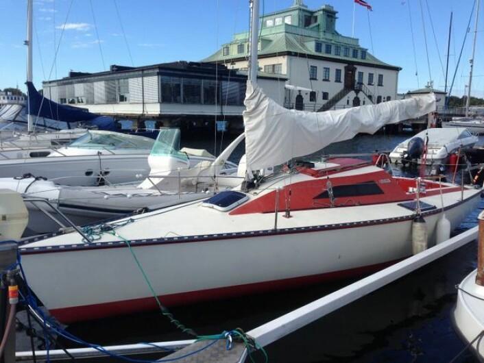 KJØPT: Horten Seilforening har kjøpt denne X-79 som skal disponeres av unge medlemmer. Båten blir sjøsatt i mai.