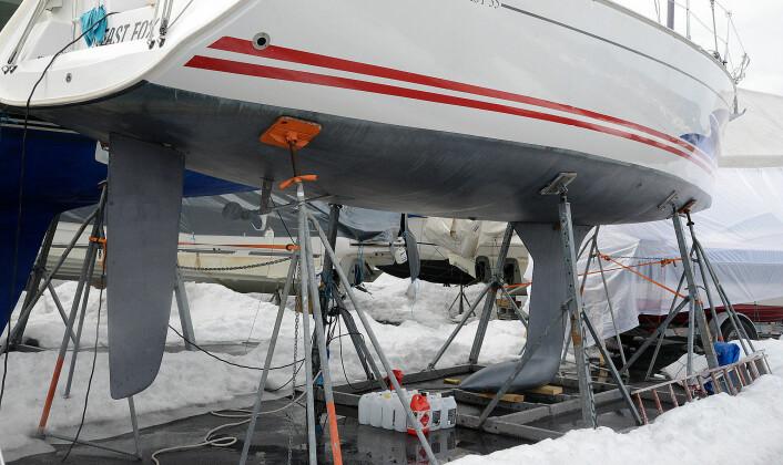 UTSATT: Moderne båter har en form som krever bedre støtte på land. Opplagsplasser  henger etter.