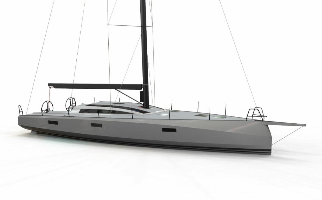 RASK: Oceantec 50 blir bygget av verftet Ocean tec som en rask langturseiler.