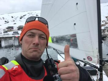 KLAR: Kl. 12.20 startet Magne Klann fra Skarsvåg i Finnmark.