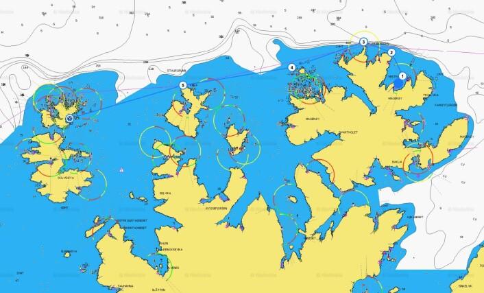 RUTE: Klann håper å seile 38 nm fra Skarsvåg til Ingøya, men har kortere alternativer.