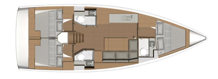 CHARTER: For første gan kan du få en båt under 40 fot med tre bad.