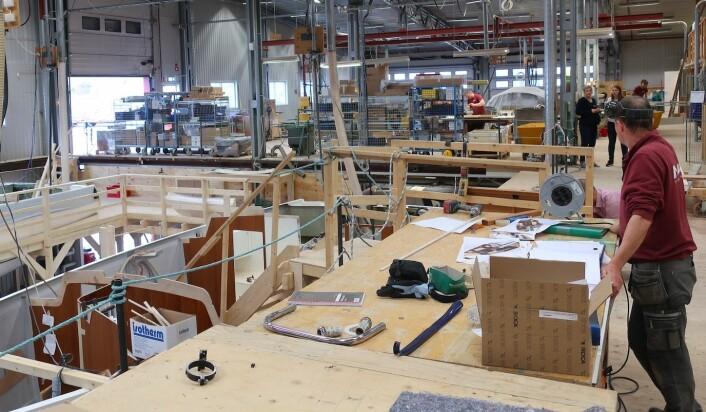 VERFT: Najad har nå bygget båtene sine i leide lokaler i det som var deres tidligere bygg på Henån.