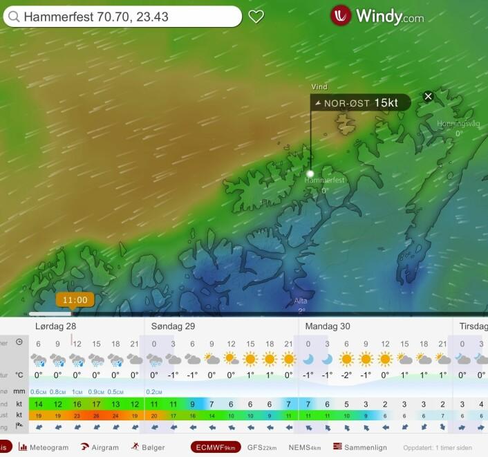 WINDY: Klann er redd for at vinden øker i Sørøysundet.
