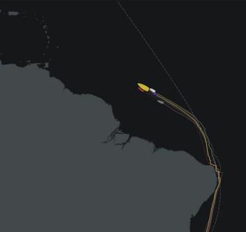 NORDVEST: Båtene er i passatvinden og vil seile på styrbordhalser i over 2000 nm.