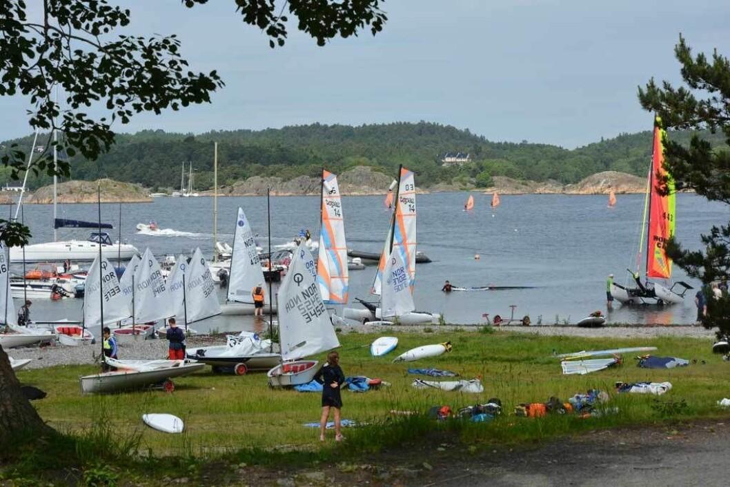 IDYLL: Campen blir arrangert fra Hove på Tromøya utenfor Arendal.