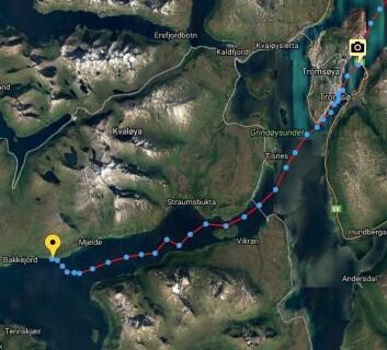 STRØM: Klann forlot Trømsø 7. mai kl 1700 for å unngå strømmen i Rystraumen.