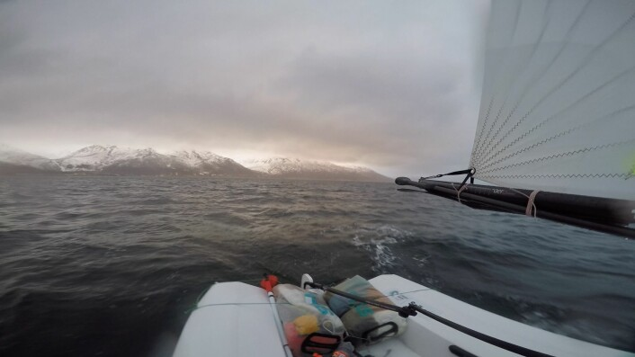 SPEKTAKULÆRT: Tross for regn og motvind ble det en vakker seilas.