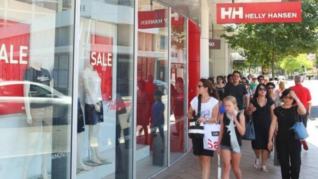 Helly Hansen har sine egne merkevarebutikker over hele verden