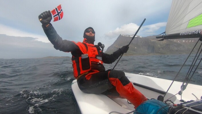 REKORD: Magne Klann er den i verden som har seilt lengst alene i en jolle.