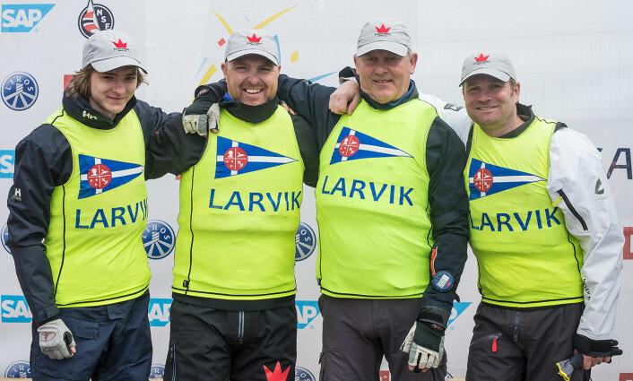 NR. 9: Larvik Seilforening er tippet på en 9. plass i årets eliteserie.