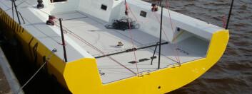 TRE: «Hubo» er bygget i tre. Bunnen av stripplanker, mens skrogsidene er av finer, alt limt med epoxy.