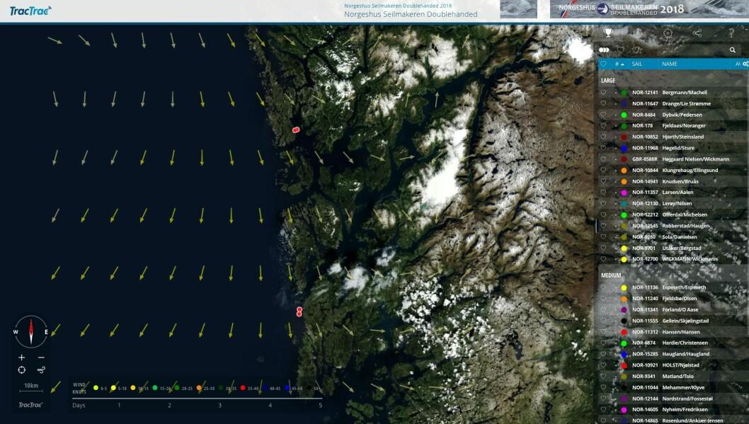 TRACKING: Alt er klart for spennende seiling på Vestlandet. Følg Norgeshus Seilmakeren Doublehanded på internett!