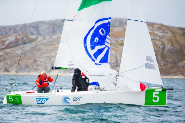BEST I VIND: Brevik-laget seilte best når vinden var på sitt friskeste.