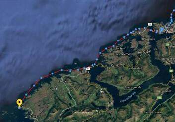 PROGRESJON: Magne Klann seilte fra Kristiansand til Bud 29. mai, ett tøff strekke i liten jolle.