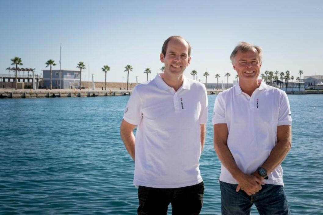 Richard Brisius og Johan Salén, President og co-President I Volvo Ocean Race tar over regattaen.