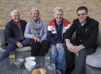MINITONN: Petter Muren, Anniken Muren, Jan Muren og Elling Rishoff startet sin seilkarriere i minitonn med selvbygde båter. Nå skal de seile sammen i en ClubSwan 50 fra neste sesong av.