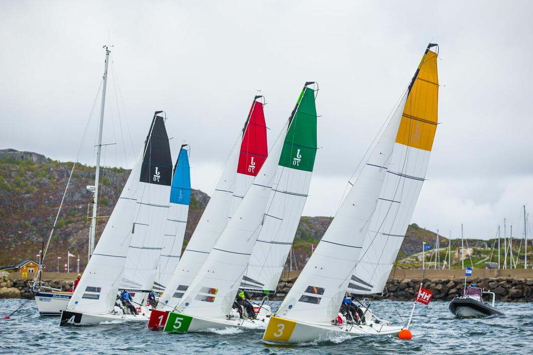 1. DIVISJON: Det er duket for ny runde i seilsportsligaen i Bodø - denne gangen med kun fire båter i feltet.