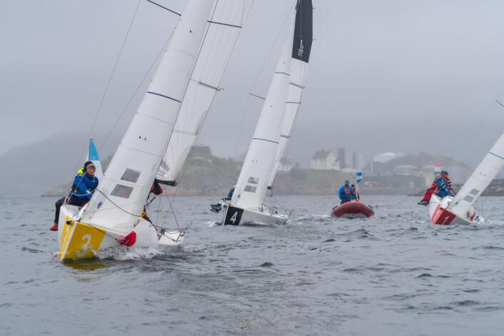FLOTTE SEILASER: Selv om ikke Bodø bød på varmen man har i sør, fikk seilerne flotte og utfordrende seilaser.