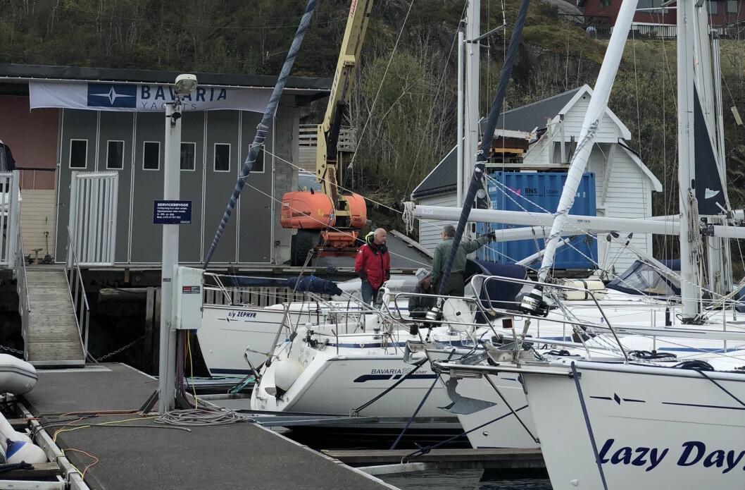 ASKØY: West Boat Askøy skel selge seilbåter fra Bavaria i Bergen.