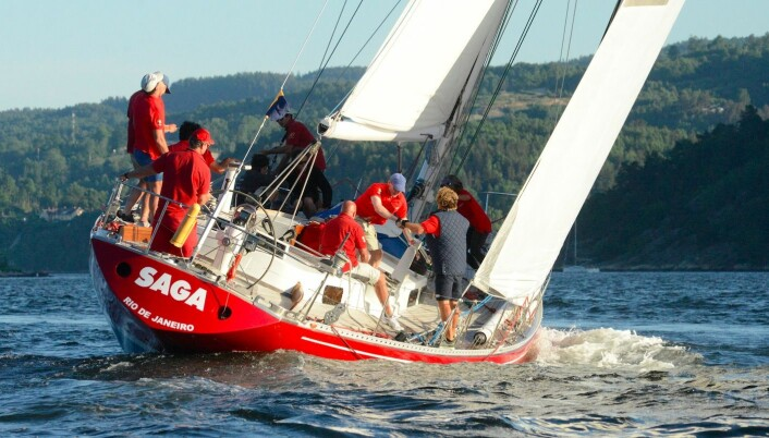 RASK: Gamle Saga holder imponernde fart, og seiler fra det meste. Båten ser ut til å like kryss.