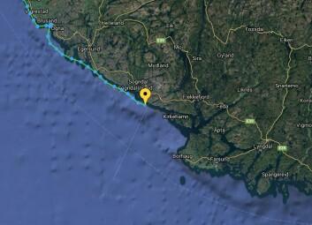 HALVEIS: Klann har seilt 25 nm av 55 fra Brusand til Lindesnes, og holdt en snittfart på 5,5 knop.