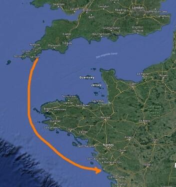VENNSKAPSSEILAS: Regattaen fra Pendennis Point i England til Les Sables d?Olonne i Frankrike er på 300 nm.