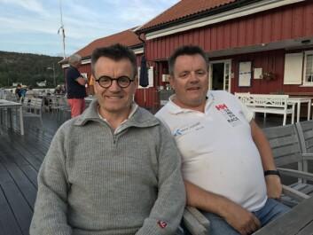 VINNERE: Emil og Jon Moholth er ferske vinnere fra Færder'n. Brødrene seiler Elan 37, og har noen tanker om den harde vinden som er meldt.