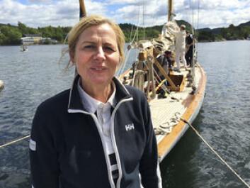 ORDFØRER: Monica Vee Bratlie strålte etter å ha fått seilt med franske «Irene VII»