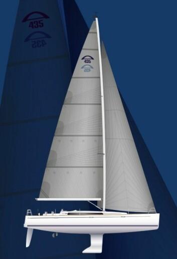 OPPSKRIFT: Lett båt, tung kjøl, og mye seil. Det skal gjøre Arcona 435 rask og trygg.